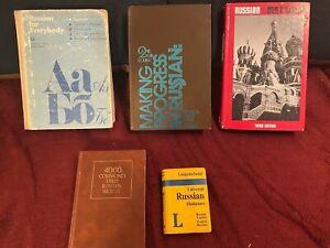 Lot of 5 Russian Language & Grammar Textbooks - 1st-3rd Year