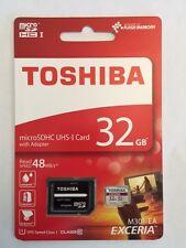 32GB, 32 GB Micro SDHC Speicherkarte CLASS 10 + SD Adapter Toshiba max. 48MB/s