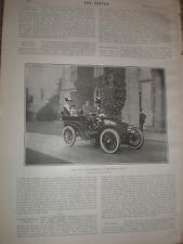 Printed photo lord and lady Warwick at the castle in motor car 1903  rf W2