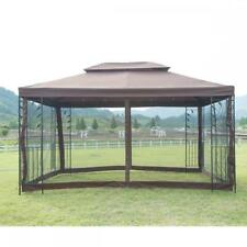 New 10′X 10′ Outdoor Gazebo Steel frame Vented Garden Gazebo Canopy