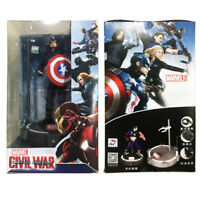 Marvel Captain America Civil War with LED Base Action Figure Kid Toy Doll Gift