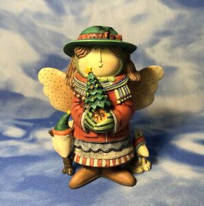 "Lang & Wise Sue Dreamer 1st Ed #5 ""Pretty Little Angel"" Figurine Tree 1998 GUC"