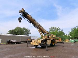 Grove RT-745 45 Ton 104' 4x4 Rough Terrain Crane Cab 32' Jib Caterpillar bidadoo