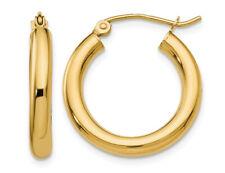 Небольшой обруч серьги в 14K желтое золото
