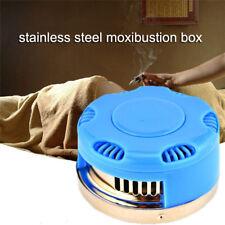 Stainless Steel Moxibustion Box Moxa Roll Stick Burner Massage AcupunctureJHCAnd
