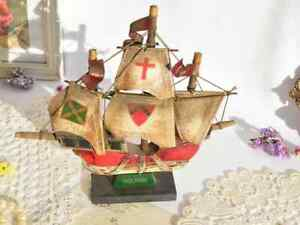 Collectibles Vintage Ship Santa Maria Souvenir Decor Home Art Pirates Sea 1960 ⚓