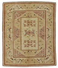 Vintage Turkish Milas Rug, 6'x7', Ivory, Hand-Knotted Wool Pile