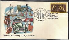 USA 1973 COVER FROM THE HOBBY TRADE SHOW IN CHICAGO - TRAIN CAR SHIP STAMPS ART