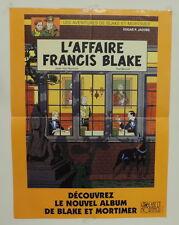 Blake et Mortimer poster pub Affaire Francis Blake Ted Benoit Van Hamme 1996