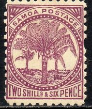 More details for 1895 samoa sg 64 2s6d purple (p11) mounted mint