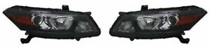 Right and Left Side Replacement Headlight PAIR For 2011-2012 Honda Accord Coupe
