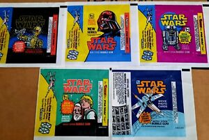 Topps Star Wars Original Wrappers Series 1 2 3 4 5 Set NM 1977 1978