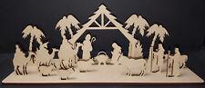 Natividad Escena Mdf Craft forma modelo Árbol De Navidad Decoración Jesús María José