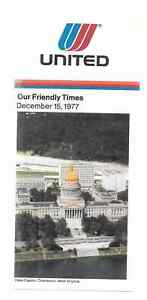 ***1977 United Airlines System Timetable - December 15, 1977***