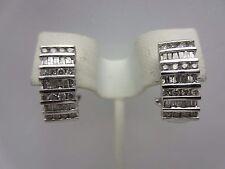 10K White Gold 1.00 Carat Diamond Hoop Earrings