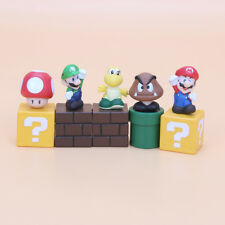 Super Mario Brothers Luigi 5 Figures Toy Cake Topper Decoration Party Bag Filler