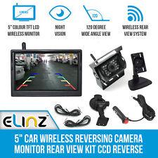 "5"" Car Wireless Reversing Camera Monitor Rear View Kit CCD Reverse 12v 24v"