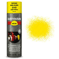 x 12 INDUSTRIEL Rust-Oleum jaune clair Peinture aérosol solide CHAPEAU 500ml RAL