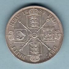 New listing Great Britain. 1889 Florin. Near Full Lustre. gEf/aUnc