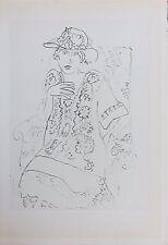 """Henri Matisse Lithograph Cinquante Dessins Limited Edition Planche """"Femme"""" 1920"""