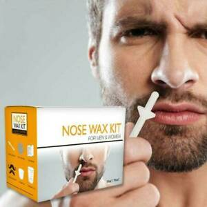 Nose Ear Hair Removal Wax Kit Set Sticks Easy Mens Nasal Waxing Strip Remover UK