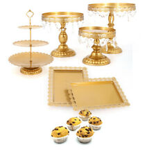 6pcs S/M/L Wedding Dessert Tray Cake Stands Party Birthday Decor Cookies Display