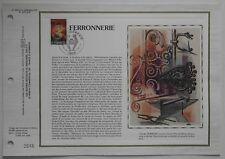 Document philatélique CEF Soie 628 1er jour 1982 Ferronnerie Métiers d'Art