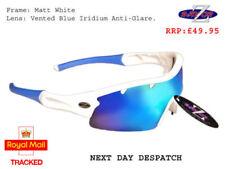 Occhiali e monolente da ciclismo con montatura in blu, con 100% UV400