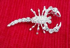 Talisman Protection Silver Plated Scorpion Brooch Star Sign Cake Pin Birth Sign
