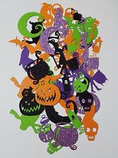 Card Stock Halloween Themed Scrap Booking Die Cut Out Confetti Embellishments