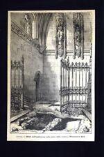 Londra - Esplosione sulla scala della cripta Westminter Hall Incisione del 1885
