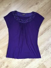 Glamorous purple top with beaded neckline by Phase Eight size 12