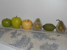 Group of Fake Display /Decorative Fruit Green Apples, Lime & Pears