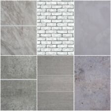 Grey Bathroom 8mm Wall Panels PVC Cladding Shower Wet Wall Tile Marble Effect