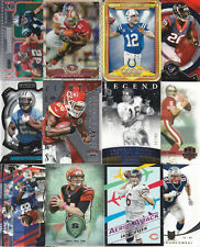 HUGE CARD COLLECTION FOOTBALL INSERTS  REFRACTORS BRADY MANNING LUCK PREMIUM