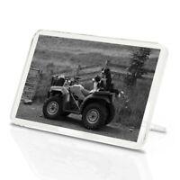 Classic Magnet With Stand - BW - Border Collie Sheepdog Quad Farm Bike  #43514