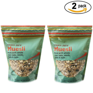 Trader Joe's  Muesli Made with Whole Grain  Nuts and Oats Seeds Fruit (2 pack)