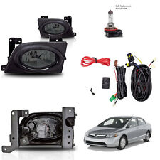 New 2006-2008 Honda Civic 4Dr Smoke Fog Light Wiring Kit Included & Light Bulb