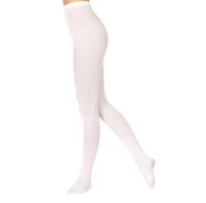 Footed White dance tights