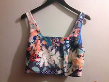 PORTMANS FLORAL PRINT CROP TOP BNWT SZ 14 FREE POST (C40) RRP $59.95