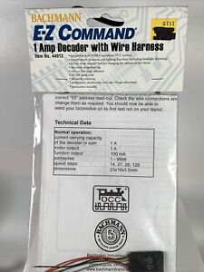 Bachmann EZ Command 1 Amp Decoder With Wire Harness (1 per pack) #44913