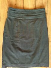 H&M WOMENS DESIGNER FORMAL SKIRT SZ EUR 36, 8 UK GREY BLACK MIX HIGH WAISTED