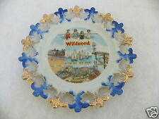 """Wildwood By-the-sea New Jersey Fun Pier Fishing Fleet Boardwalk 8"""" Wall Plate"""
