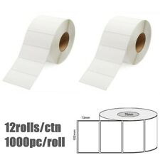 White Blank Thermal Transfer Labels Rolls Stickers 102 x 73mm