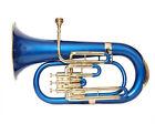BRAND NEW BLUE BRASS FINISH Bb Flat 3 VALVE EUPHONIUM FREE HARD CASE MOUTHPIECE