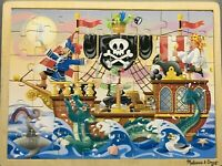 MELISSA & DOUG wooden jigsaw puzzle 'Pirate Adventure' 48 pieces 30x40cm