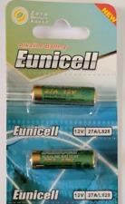 2 x Eunicell  27A 12v BATTERY A27 MN27 EL812 L828 CA22 GP27A Zero Mercury