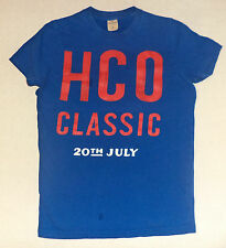 "HOLLISTER S/S  BLUE T-SHIRT ""HCO CLASSIC 20TH JULY ""  ON FRONT     S      K#5357"