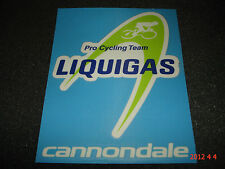 1 Authentic liquigas cannondale pro cycling team Adesivo/Adesivo Aufkleber #2