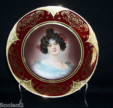 ROYAL VIENNA PORTRAIT / CABINET  PLATE  -  AFTER NATHANIEL SICHEL  (1844-1907)